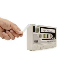 Grey Cassette Tape Dispenser