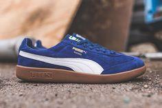 PUMA Madrid 2L Sneaker Herren weinrot blau Inspiration Schuhe