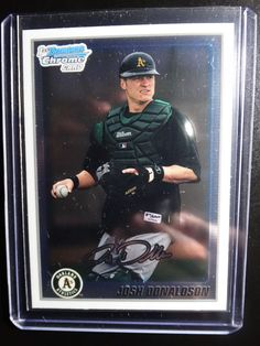 2010 Bowman Chrome #BCP113 Josh Donaldson Oakland Athletics Rookie Baseball Card #Athletics #BowmanChrome #OaklandAthletics
