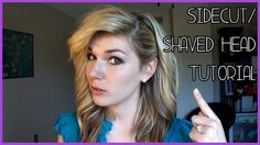 HOW TO FAKE A SIDECUT/SHAVED HEAD TUTORIAL #beauty #tutorial #BrittanyBearPaws