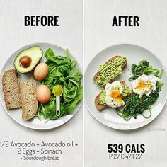 What weekends are made for = brunch 😍 easy 539 calorie recipe below. Have a g… What weekends are made for = brunch 😍 easy 539 calorie recipe below. Have a great weekend ❤️⭐️ —— 👉🏼 Ingredients; 1 medium slice of… Healthy Meal Prep, Healthy Snacks, Healthy Eating, Healthy Recipes, Simple Recipes, Healthy Weight, Plats Healthy, No Calorie Foods, Calorie Recipe