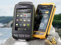 simvalley MOBILE Dual-SIM-Outdoor-Smartphone SPT-800 3G, Signalgelb