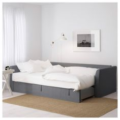 IKEA - FRIHETEN, Sleeper sofa, Skiftebo beige, , Easily converts into a bed.Large practical storage space under the seat. Three Seat Sofa, Corner Sofa Bed, Sleeper Sectional, Ikea, Sofa Bed With Chaise, Ikea Bed, Sofa Cama, Corner Sofa, Sofa Bed Frame