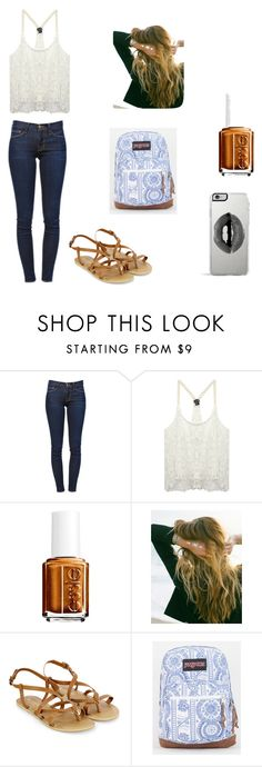 """Untitled #35"" by aussie262 on Polyvore featuring Frame Denim, Wet Seal, Essie, Lulu DK, Monsoon, JanSport and Lipsy"