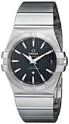 #silverwatch Omega Men's Constellation Co-Axial Automatic 35mm Analog Display Swiss Automatic Silver Watch Check https://www.carrywatches.com