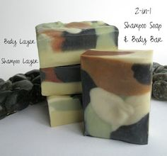 2-in-1 Shampoo Soap and Body Bar for Dad (or any man in you life)