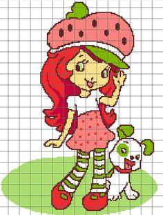 Strawberry Shortcake Cross Stitch Patterns | Strawberry Shortcake Crochet Graph
