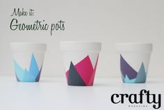 How to make geometric pots