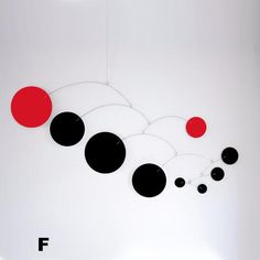 Mod Mobile in Black and Red by AtomicMobiles.com #mod #midcentury #modern #homedecor