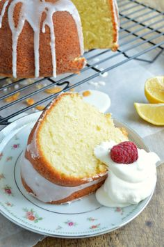 Lemon Yogurt Pound Cake is tender and buttery and loaded with lemon flavor!
