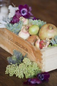 Fruit box of fall harvest