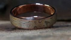 Wedding bands workshop Mokume-gane ring work by DIYHandmadeRings Envelope Design, Handmade Rings, 18k Rose Gold, Dog Bowls, Wedding Bands, Workshop, White Gold, Engagement Rings, Yellow