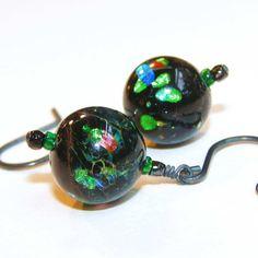 Etherea Vintage Venetian Glass Earrings by filigreefairy on Etsy, $22.00