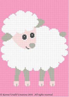 Crochet Patterns - BABY LAMB Afghan Pattern **EASY!** picclick.com