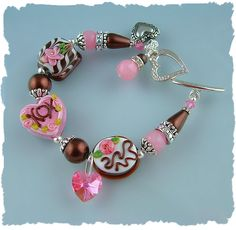chocolates anyone d sharing a delicious chocolate lampwork bead bracelet i made for a