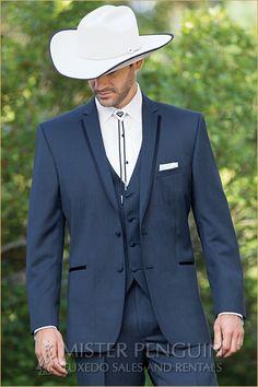 Grooms tux - obv hate the cowboy stuff but the suit is very nice Cowboy Wedding Attire, Tuxedo Wedding, Wedding Suits, Wedding Tuxedos, Cowboy Weddings, Barn Weddings, Country Wedding Groom, Outdoor Weddings, Romantic Weddings