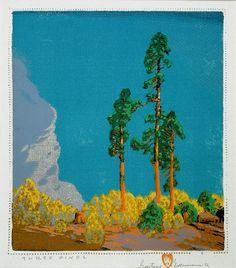 Three Pines, Gustave Baumann
