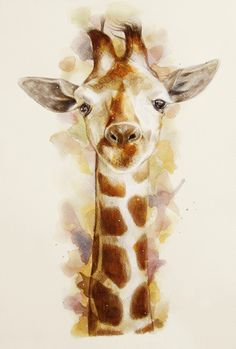 giraffe Art Print  #AnimalArt #Art #Giraffe