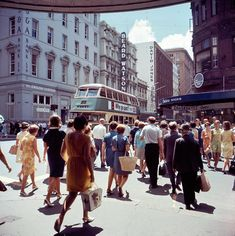 George St 1968 History Photos, Retro Futurism, Life Photo, City Streets, Fast Cars, Old Photos, Sailing, Past, Old Things
