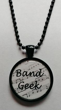 Band geek jewelry Etsy listing at http://www.etsy.com/listing/168025496/band-geek-black-and-white-cameo-necklace