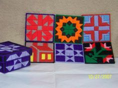 Quilt block coasters in a box by angelbear56 on Etsy, $10.00