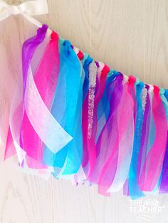 Frozen Party Ribbon Garland - Frozen Bunting - Frozen Garland - Frozen Party Decoration + 10% off Party Supplies Coupon by ThePartyTeacher on Etsy