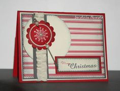 Christmas Snowflake by arinstamps - Cards and Paper Crafts at Splitcoaststampers Christmas Snowflakes, Stamping Up, Snowman, Paper Crafts, Simple, Frame, Cards, Decor, Picture Frame