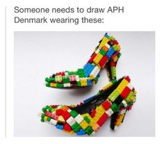 Not even fem!denmark, i want to see a sleepover with the Awesome Trio and they have a fashion show and Denmark comes out wearing these.