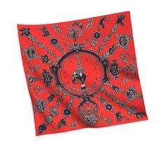 2014 F/W | Serio Ludere | Silk twill scarf, hand-rolled (90 cm x 90 cm) | Ref. H002809S 04 | CA$420.00