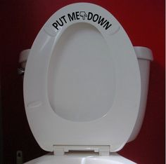 Hey, I found this really awesome Etsy listing at https://www.etsy.com/listing/185613161/put-me-down-bathroom-toilet-seat-hand