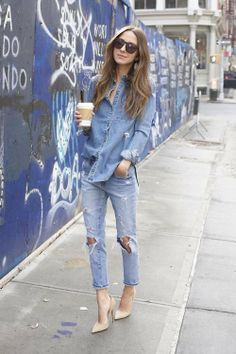 I love this ...its probably warm were she is in the photo but I would totally wear something like this this fall