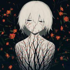 This Japanese Illustration Artist's Works Are True Masterpieces Art Triste, Anime Triste, Dark Art Illustrations, Art Et Illustration, Blood Lad, Art Noir, Arte Obscura, Deep Art, Art Anime