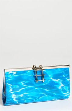 kate spade new york 'pool party' clutch - cute with ladder clasp