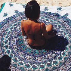 Round Beach Towel Polyester Towels Summer Large Microfiber Fabric Printed With Tassel Circle Beach Towel Serviette Plus Size Bikini Bottoms, High Waisted Bikini Bottoms, Circle Beach Towel, I Need Vitamin Sea, Zaful Bikinis, Bohemian Beach, Hippie Boho, Before Wedding, Crop Top Bikini