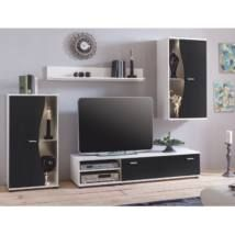 Modern wall units extension wall in black and white modern parts) Natura ClassicoNatura Classico - - Grande Niche, Tv Wand, Modern Wall Units, Electronics Storage, Light Emitting Diode, Chaise Bar, Support Mural, Tv Storage, Living Room Storage