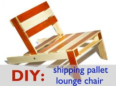 From Nina Tolstrup of StudioMama here comes a seating that's the part of a Pallet furniture collection crafted out of the reclaimed wood. If you wish to come up with some green DIY stuff then you can visit Nina's site and check buy the.
