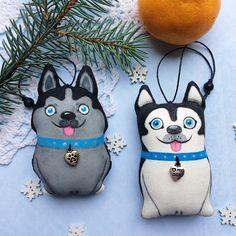 Собаки, собачки, символ года, символ 2018, Новый год, елочные игрушки
