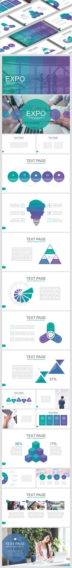 FREE Keynote template Download link: http://site2max.pro/expo-free-keynote-template/ #marketing #keynote #free #business #infographic #violet #2017