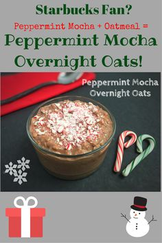 Ho, Ho, Ho, get your morning cup of Joe in this gluten free, protein-packed Peppermint Mocha Overnight Oats! If you love Starbucks, this is for you! @LaurenPincusRD