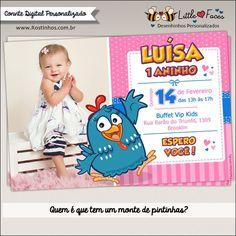 Convite Festa Galinha Pintadinha com Foto Digital