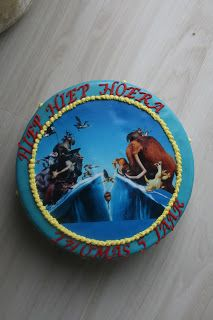 Ice Age Frosted Paper Cake