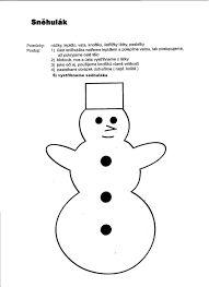 Výsledek obrázku pro snehulak z papíru