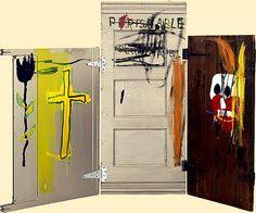Gravestone Jean-Michel Basquiat Date: 1987 Jean Michel Basquiat, Jm Basquiat, Basquiat Artist, Basquiat Paintings, Sandro Chia, Pop Art, Crayon Canvas, Radiant Child, Guggenheim Bilbao