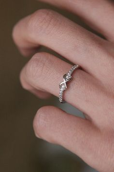 CZ Infinity Embraced Band Ring in white gold by kellinjeweller