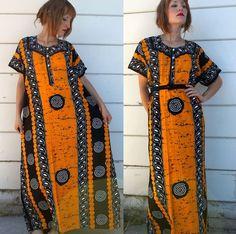 vintage african dashiki dress - $30.00