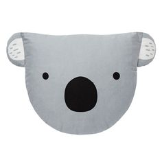 Perfect for our Aussie theme Nursery Cotton Cushion. Novelty Koala cushion with printed face on front and applique ears. Available in Pale Grey. Measures: x One size only. Australian Nursery, Australian Animals, Cute Cushions, Animal Cushions, Koala Nursery, Bear Theme, Baby Presents, Nursery Inspiration, Aussies