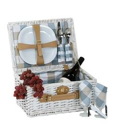 Look what I found on #zulily! White Boothbay Two-Person Picnic Set #zulilyfinds
