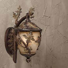 Triarch Acorn & Oak Leaf Outdoor Wall Light