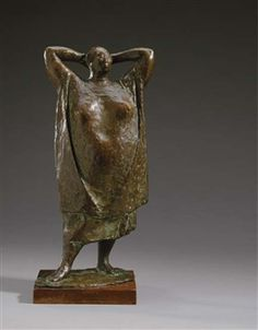 Standing Woman with Hands at her Neck By Francisco Zuñiga