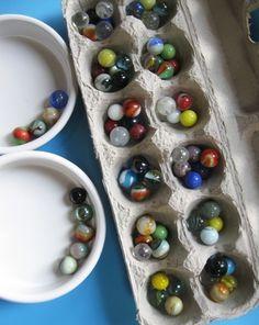 Make a Mancala game out of an old egg carton ;-)